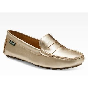 Eastland Metallic Gold Leather Loafer
